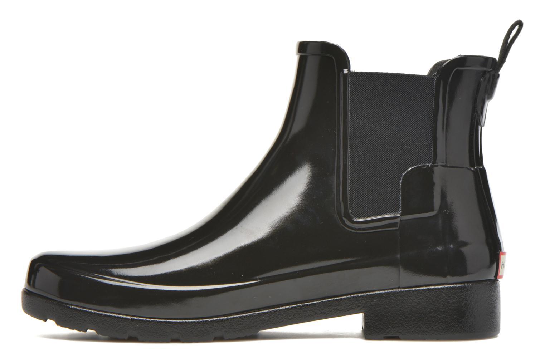 Bottines et boots Hunter Original Refined Chelsea Gloss Noir vue face