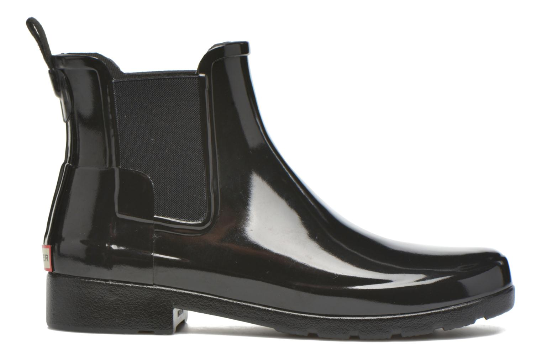 Bottines et boots Hunter Original Refined Chelsea Gloss Noir vue derrière