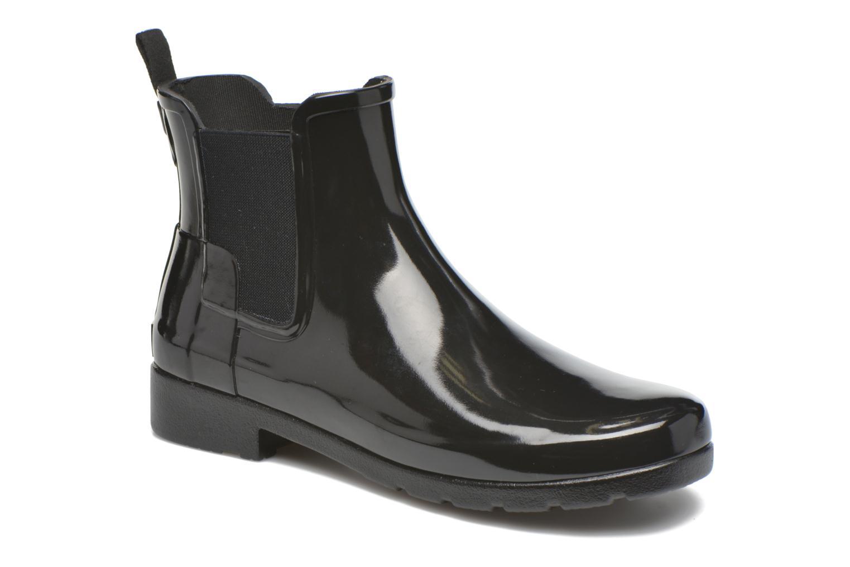 Boots Hunter Original Refined Chelsea Gloss Svart detaljerad bild på paret