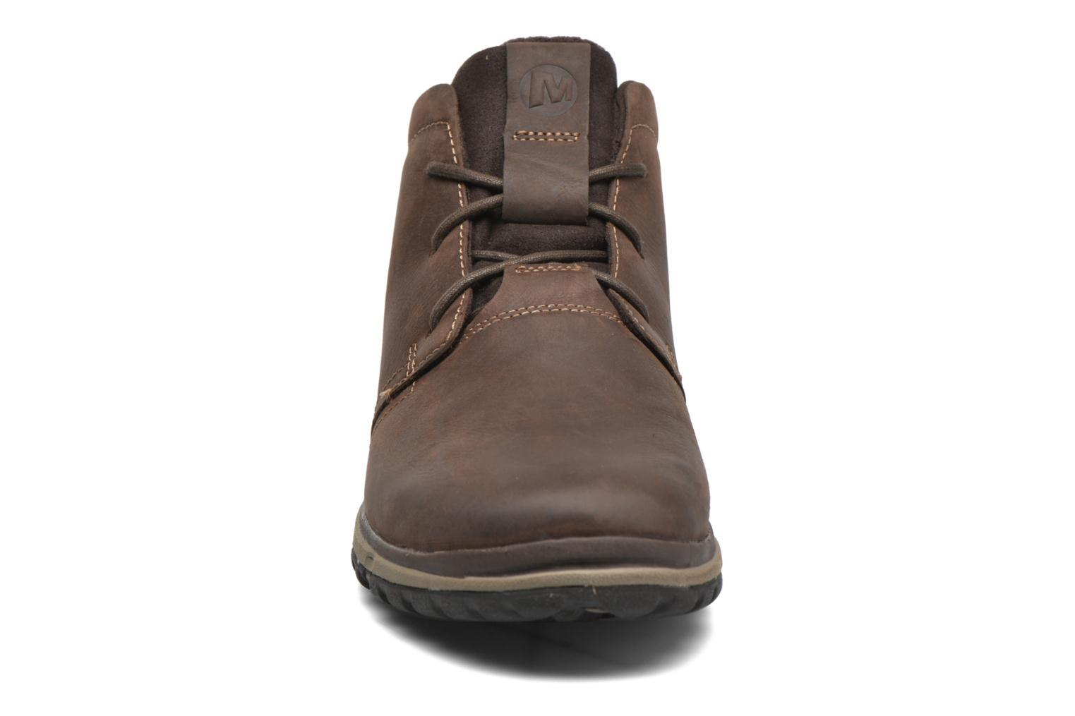 Lace-up shoes Merrell All Out Blazer Chukka North Brown model view