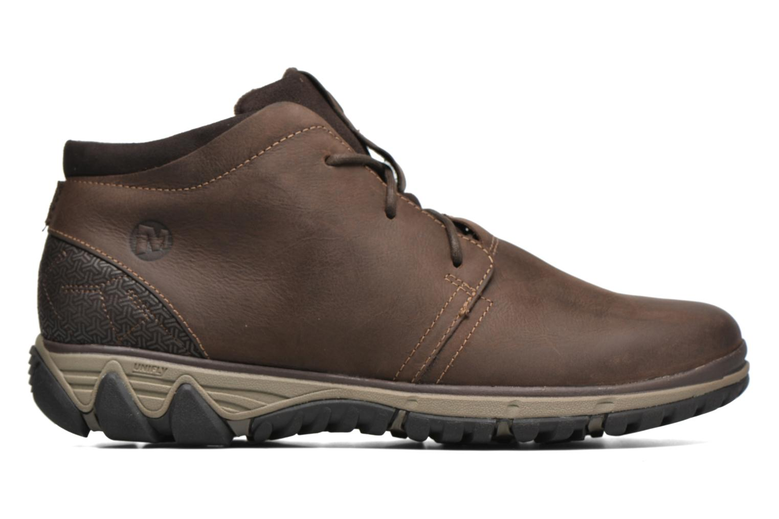Lace-up shoes Merrell All Out Blazer Chukka North Brown back view