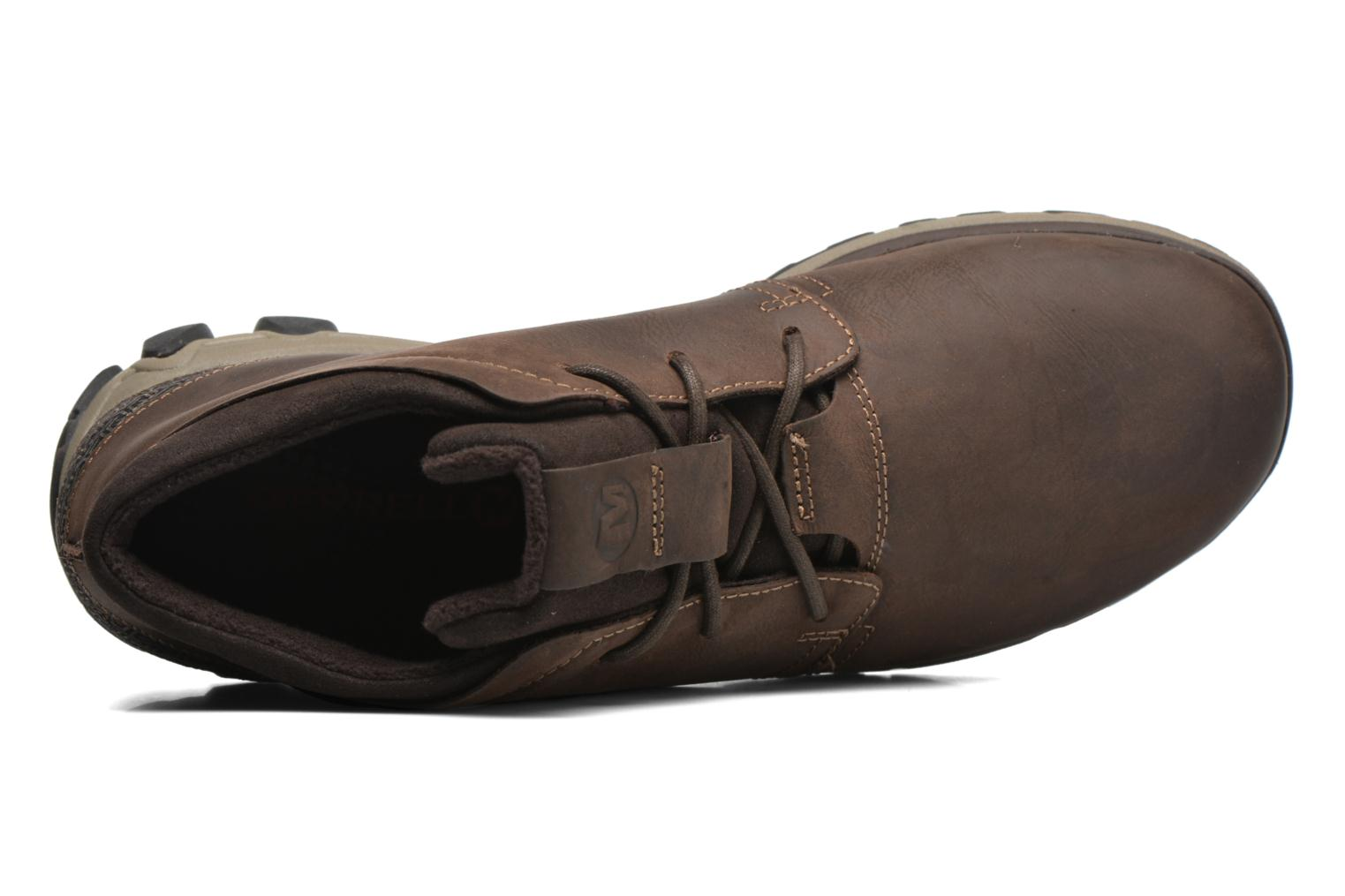 Lace-up shoes Merrell All Out Blazer Chukka North Brown view from the left