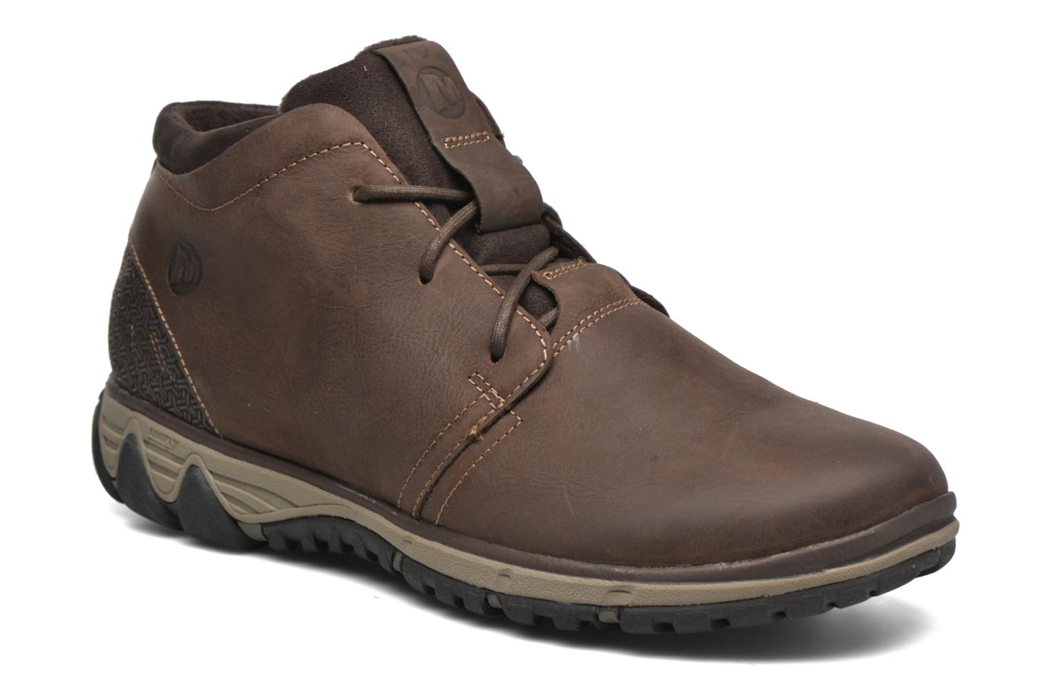 Lace-up shoes Merrell All Out Blazer Chukka North Brown detailed view/ Pair view