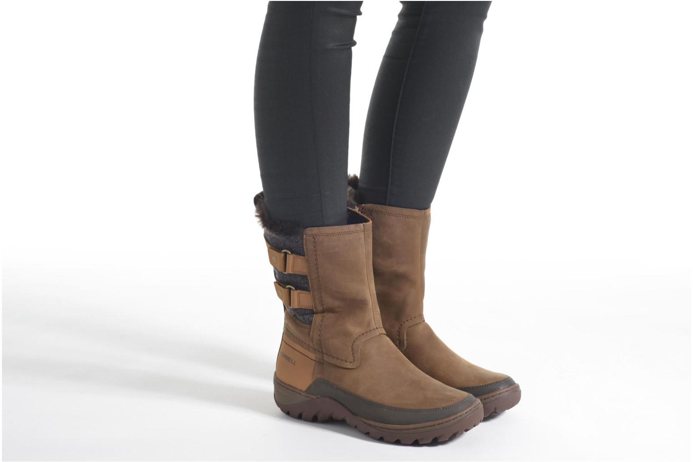 Chaussures de sport Merrell Sylva Mid Buckle Waterproof Marron vue bas / vue portée sac