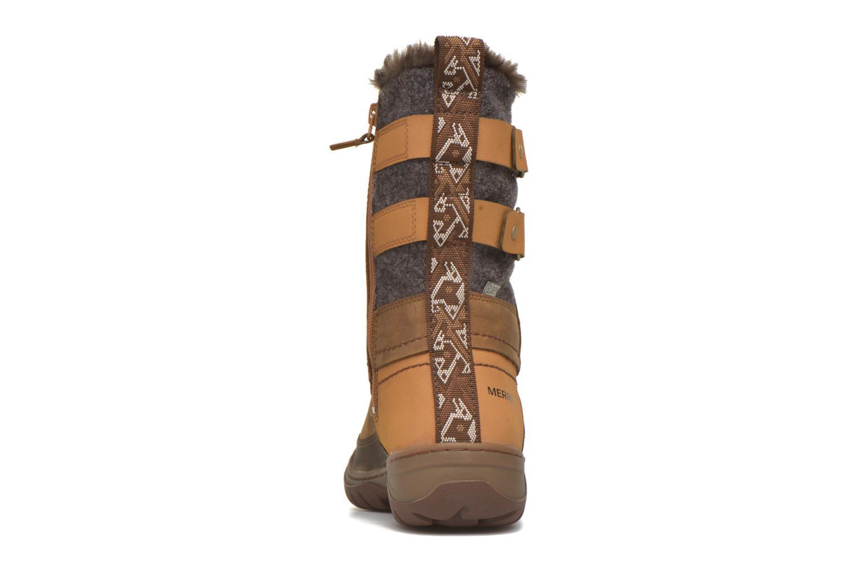 Zapatillas de deporte Merrell Sylva Mid Buckle Waterproof Marrón vista lateral derecha