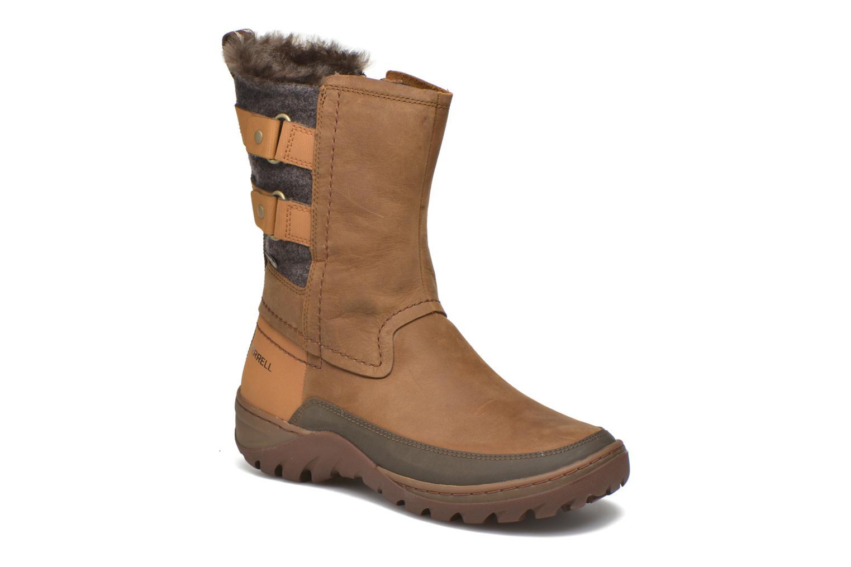 Zapatillas de deporte Merrell Sylva Mid Buckle Waterproof Marrón vista de detalle / par