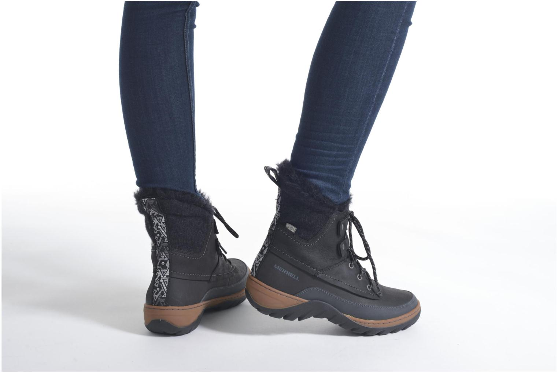 Chaussures de sport Merrell Sylva Mid Lace Waterproof Marron vue bas / vue portée sac