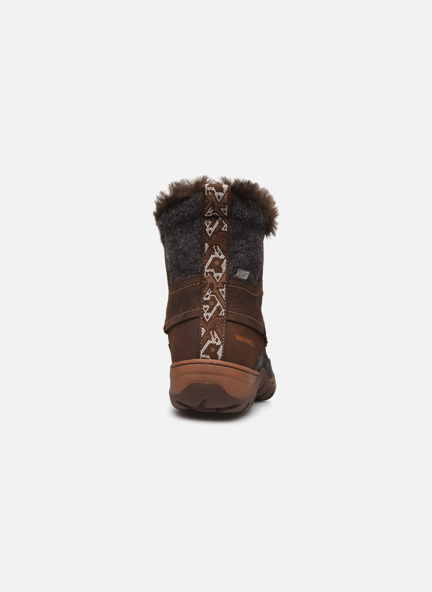 Chaussures de sport Merrell Sylva Mid Lace Waterproof Marron vue droite