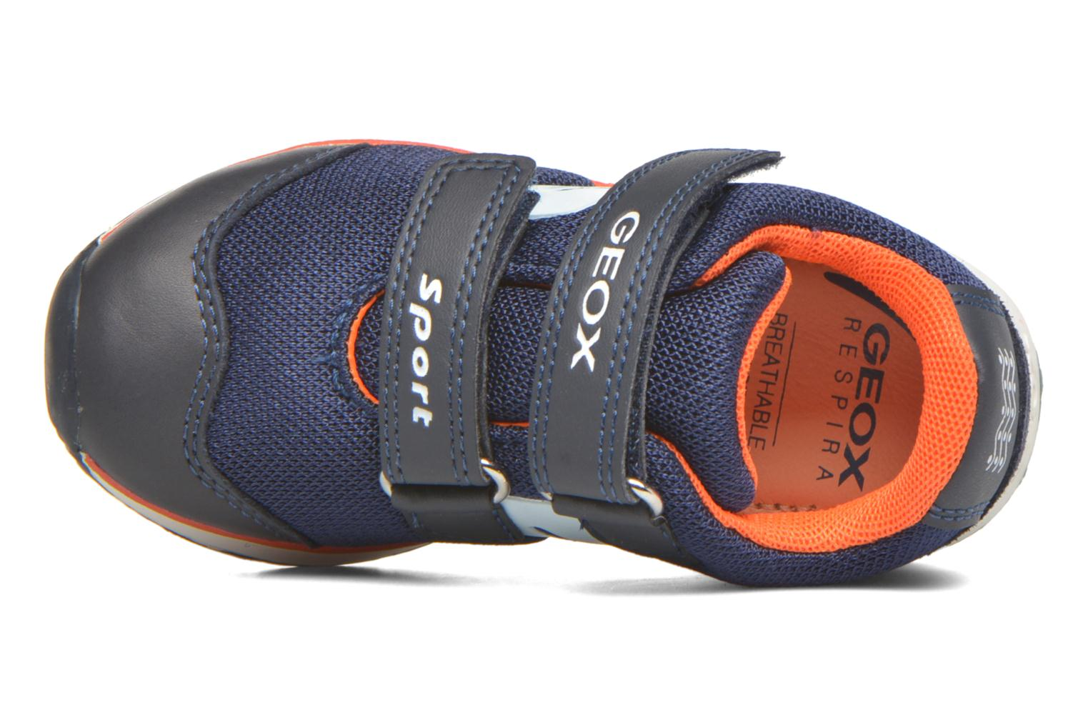 Trainers Geox B Teppei Boy B54S9C Blue view from the left