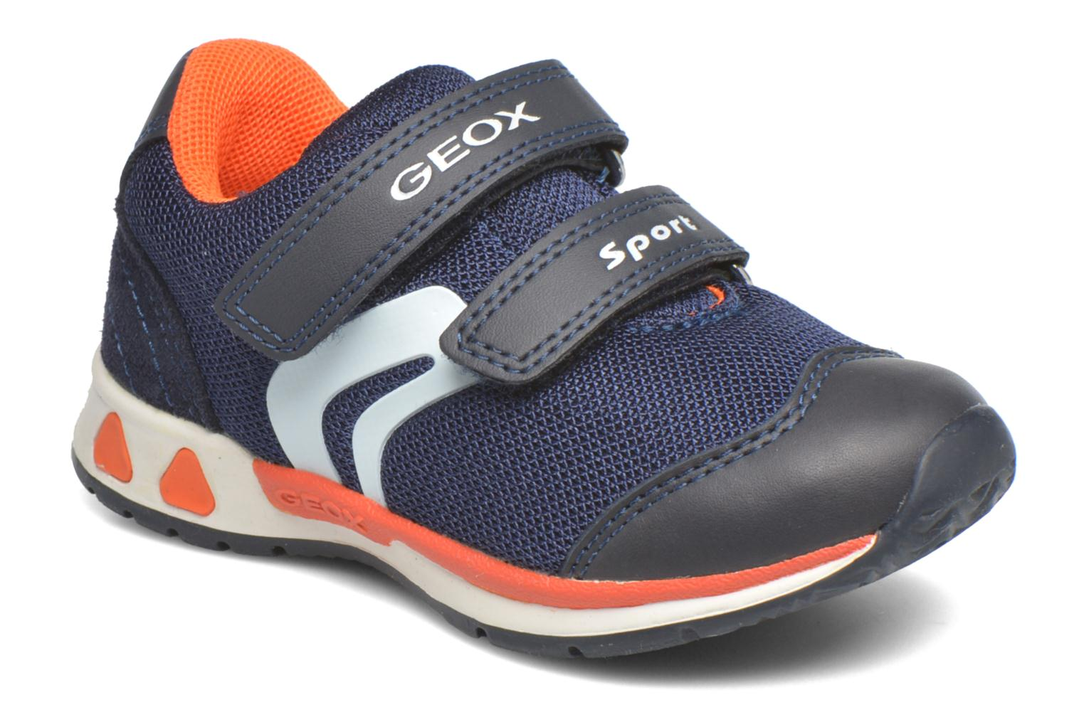 Trainers Geox B Teppei Boy B54S9C Blue detailed view/ Pair view