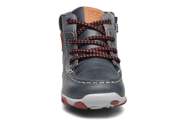 Sneaker Geox B Balu' Boy B5436B blau schuhe getragen