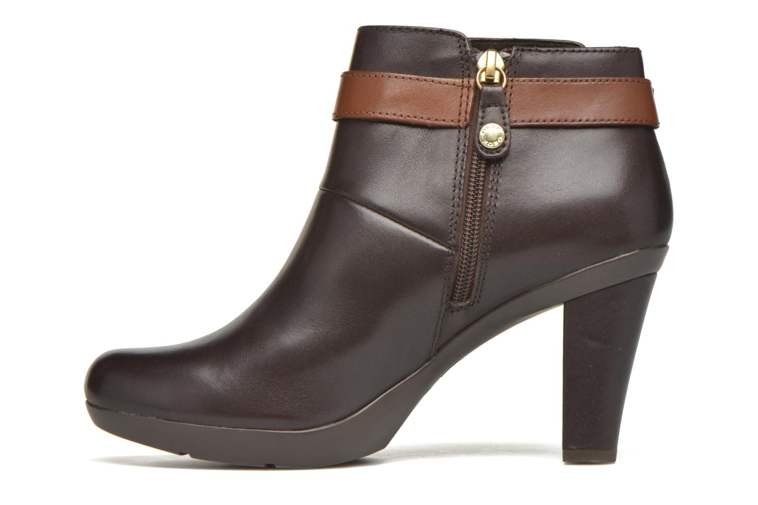 Ankle boots Geox D Inspiration STIV D54G9B Brown front view