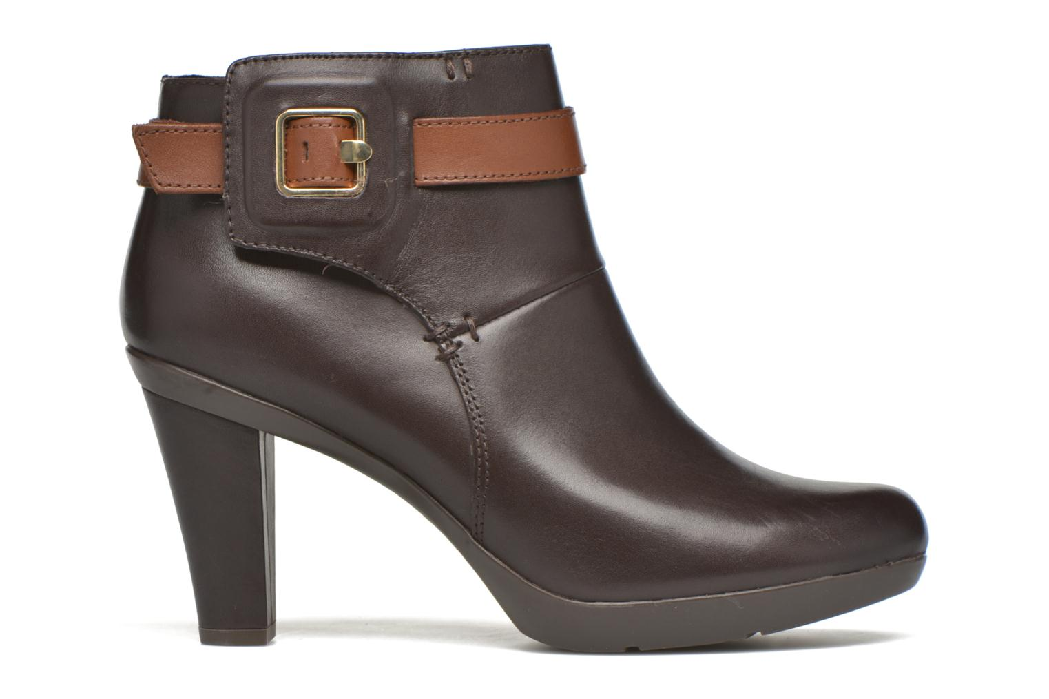 Ankle boots Geox D Inspiration STIV D54G9B Brown back view