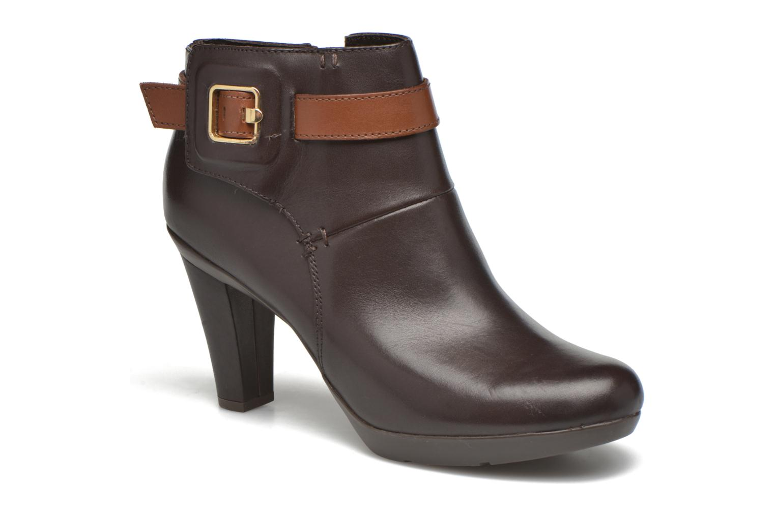 Ankle boots Geox D Inspiration STIV D54G9B Brown detailed view/ Pair view