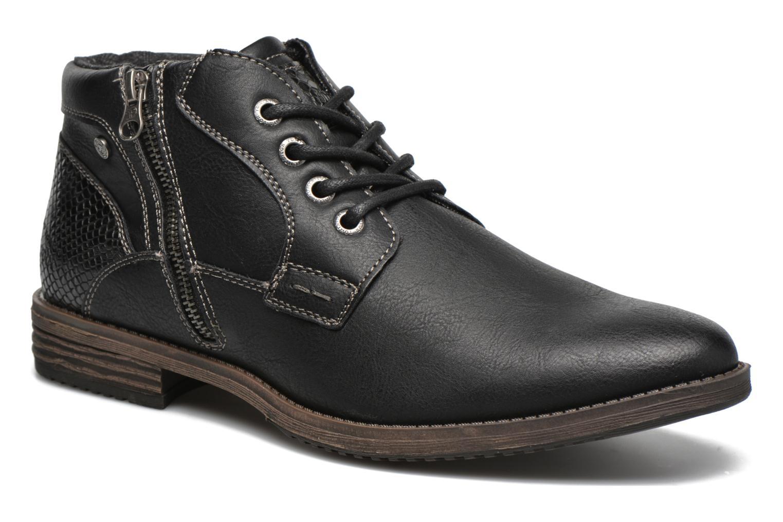 Chaussures à lacets Tom Tailor Etienne Noir vue détail/paire