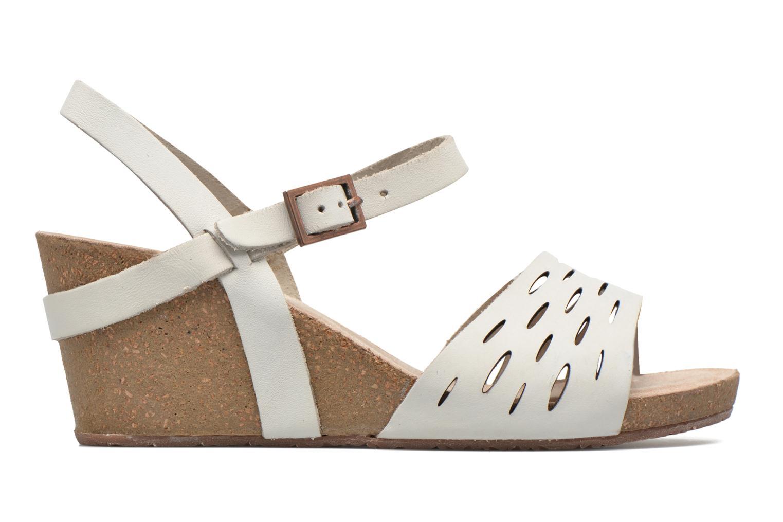 Sandals TBS Riffah White back view