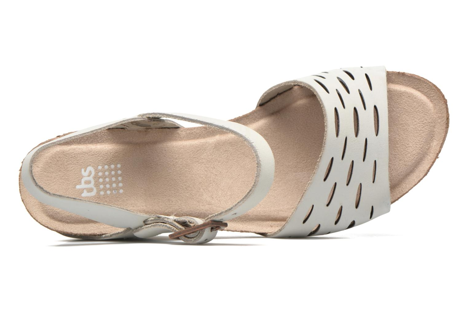 Sandals TBS Riffah White view from the left