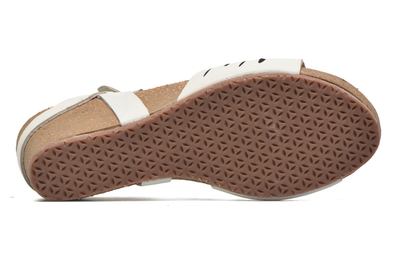 Sandales et nu-pieds TBS Riffah Blanc vue haut
