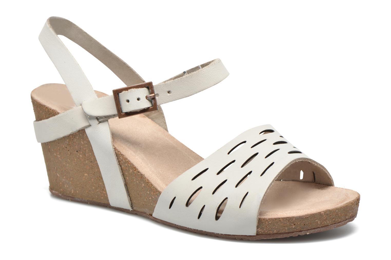 Sandals TBS Riffah White detailed view/ Pair view