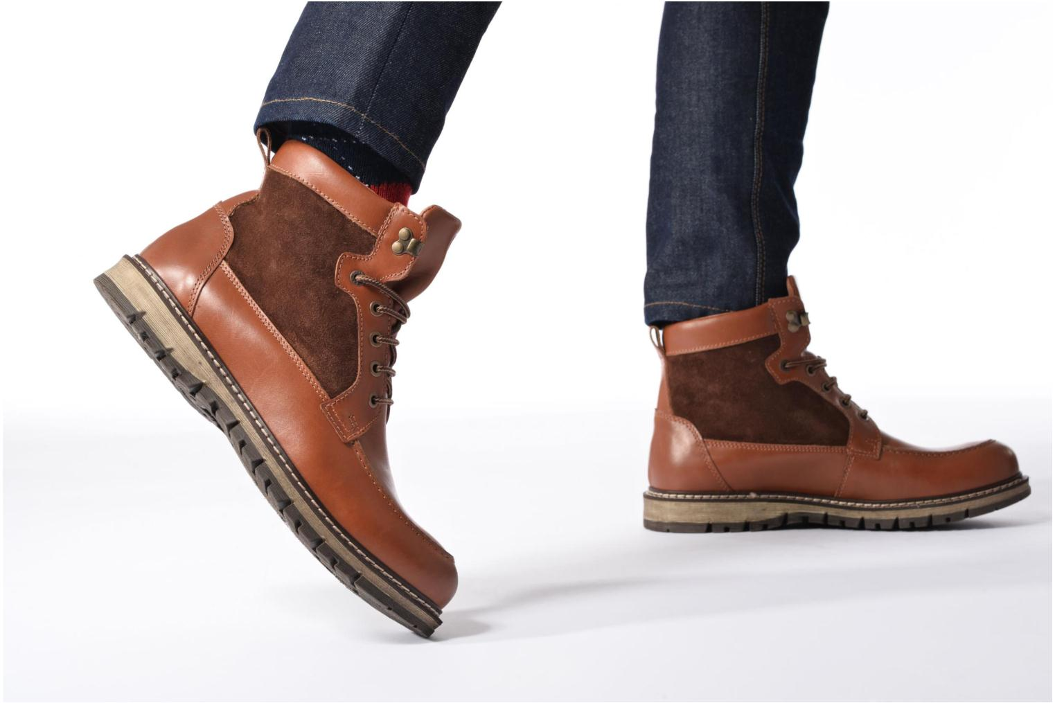Ankle boots Mr SARENZA Newfeel Brown view from underneath / model view