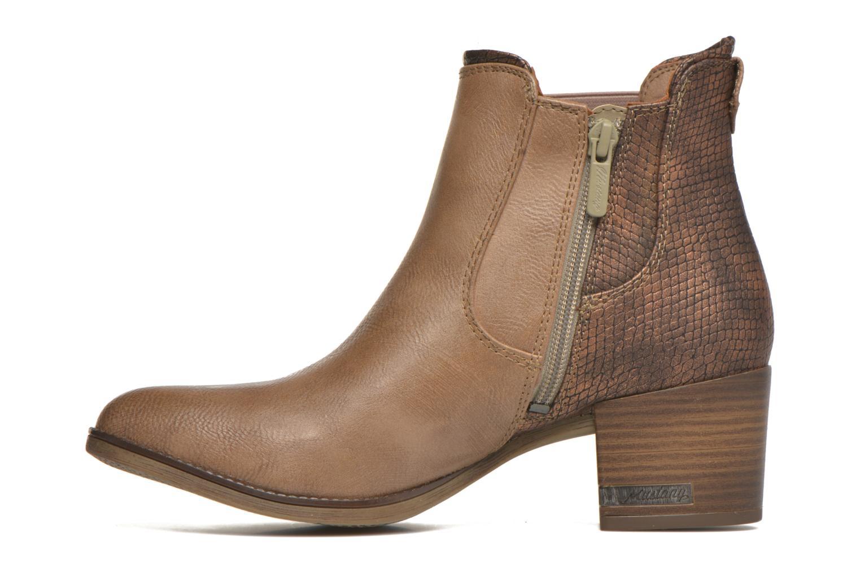 Bottines et boots Mustang shoes Mustea Marron vue face