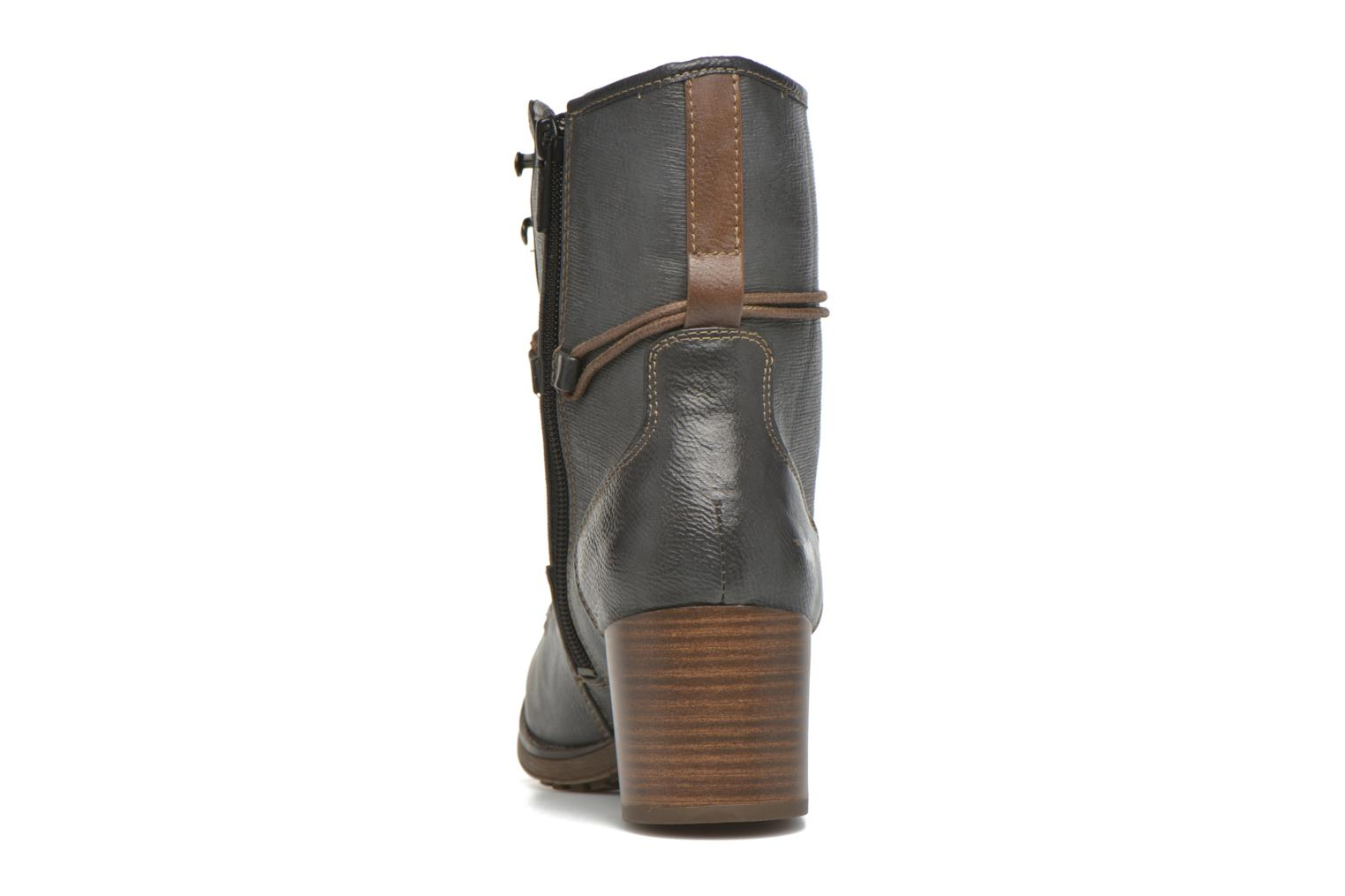 Ankle boots Mustang shoes Muasta Grey view from the right
