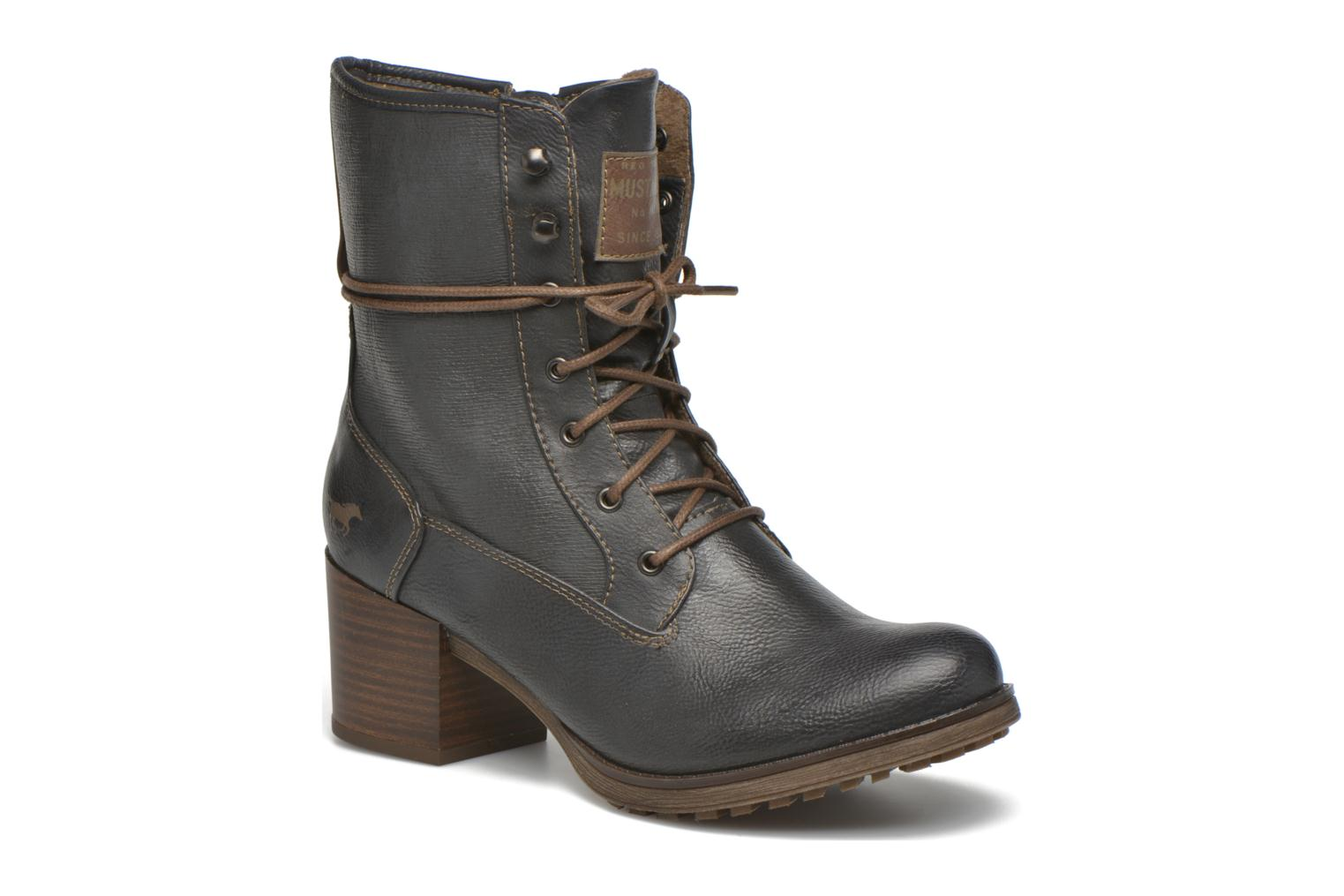 Ankle boots Mustang shoes Muasta Grey detailed view/ Pair view