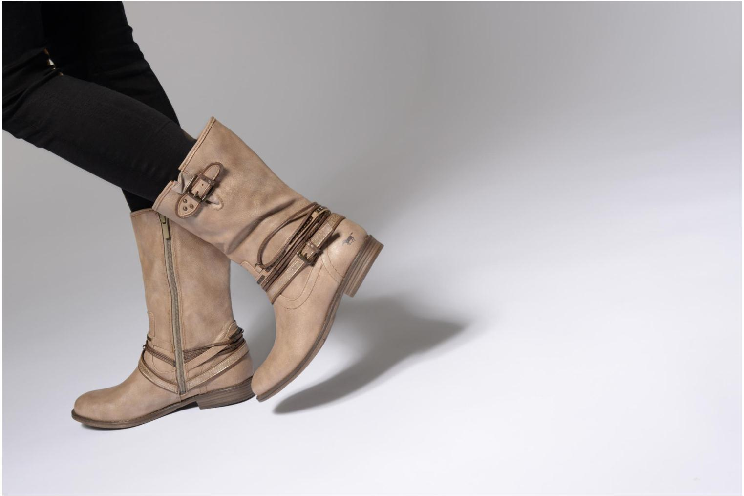 Ankle boots Mustang shoes Mupe Grey view from underneath / model view