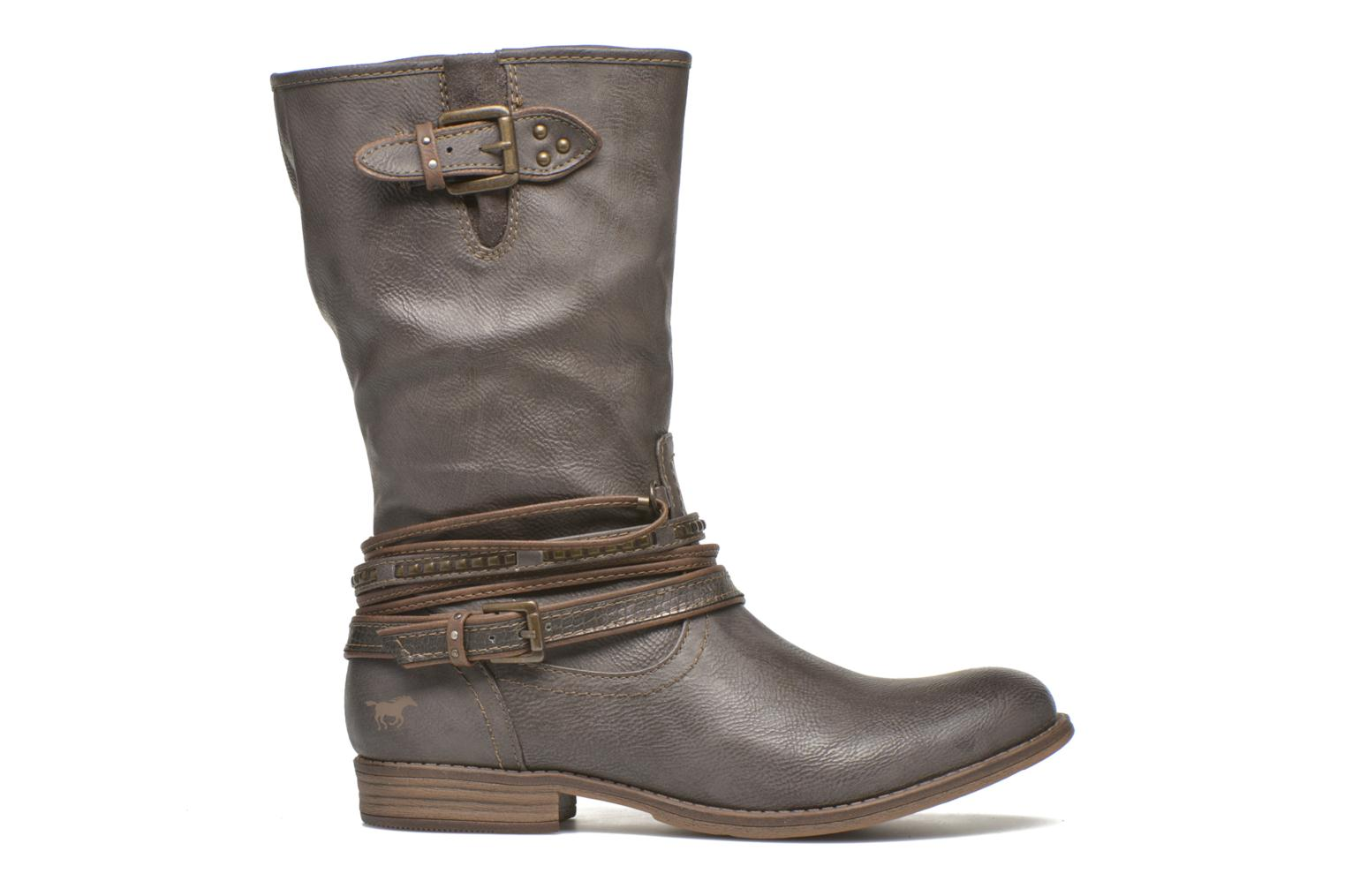 Ankle boots Mustang shoes Mupe Grey back view