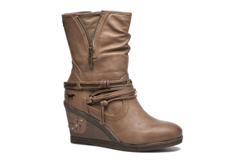 Bottines et boots Mustang shoes Makel Marron vue détail/paire