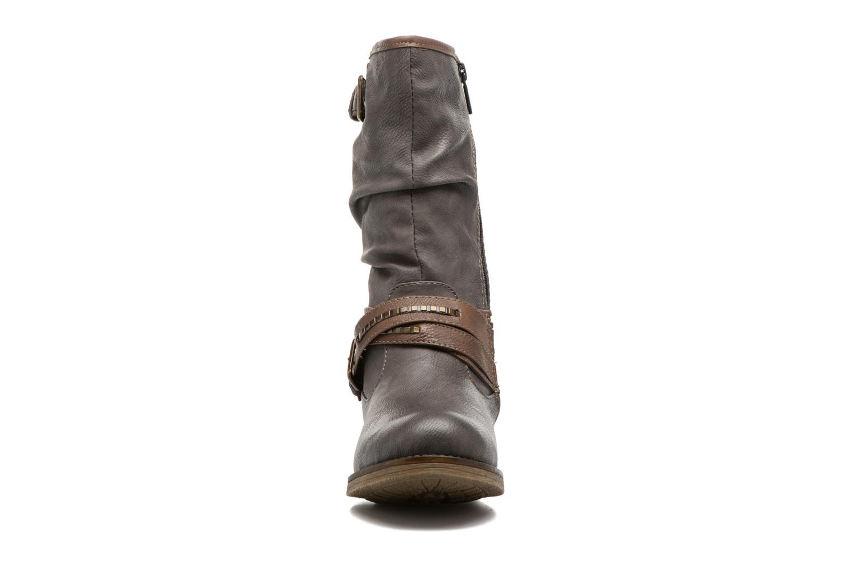 Stiefel Mustang shoes Muze grau schuhe getragen