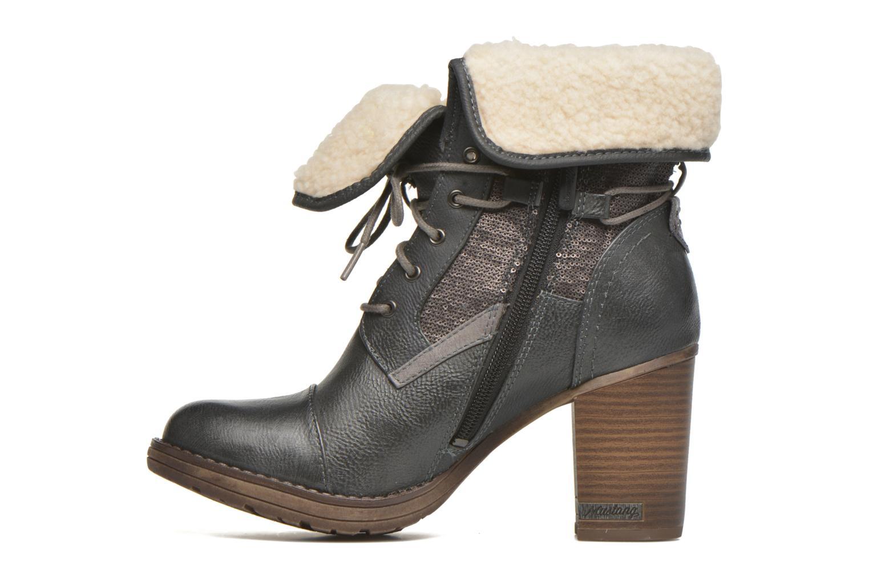 Bottines et boots Mustang shoes Mupha Gris vue face