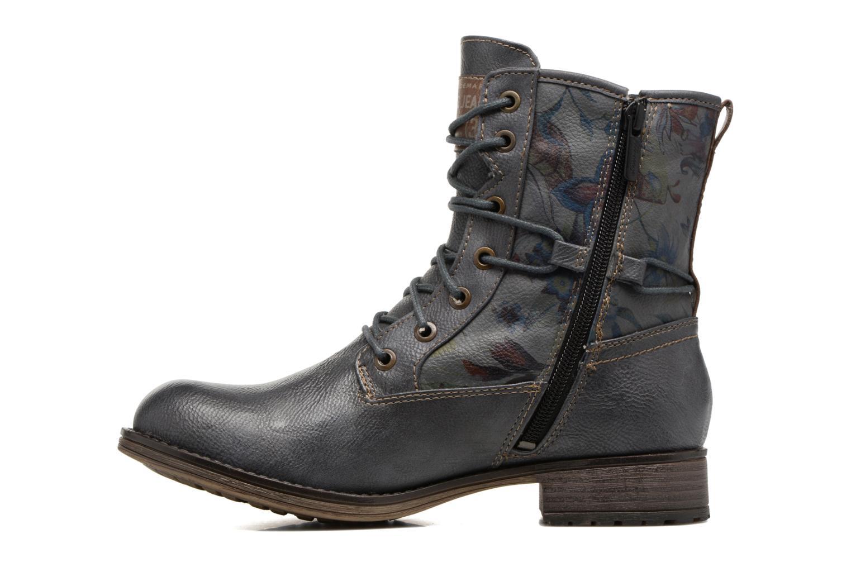 Bottines et boots Mustang shoes Manat Gris vue face