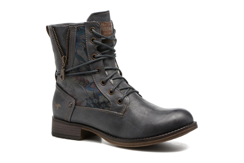 Bottines et boots Mustang shoes Manat Gris vue détail/paire