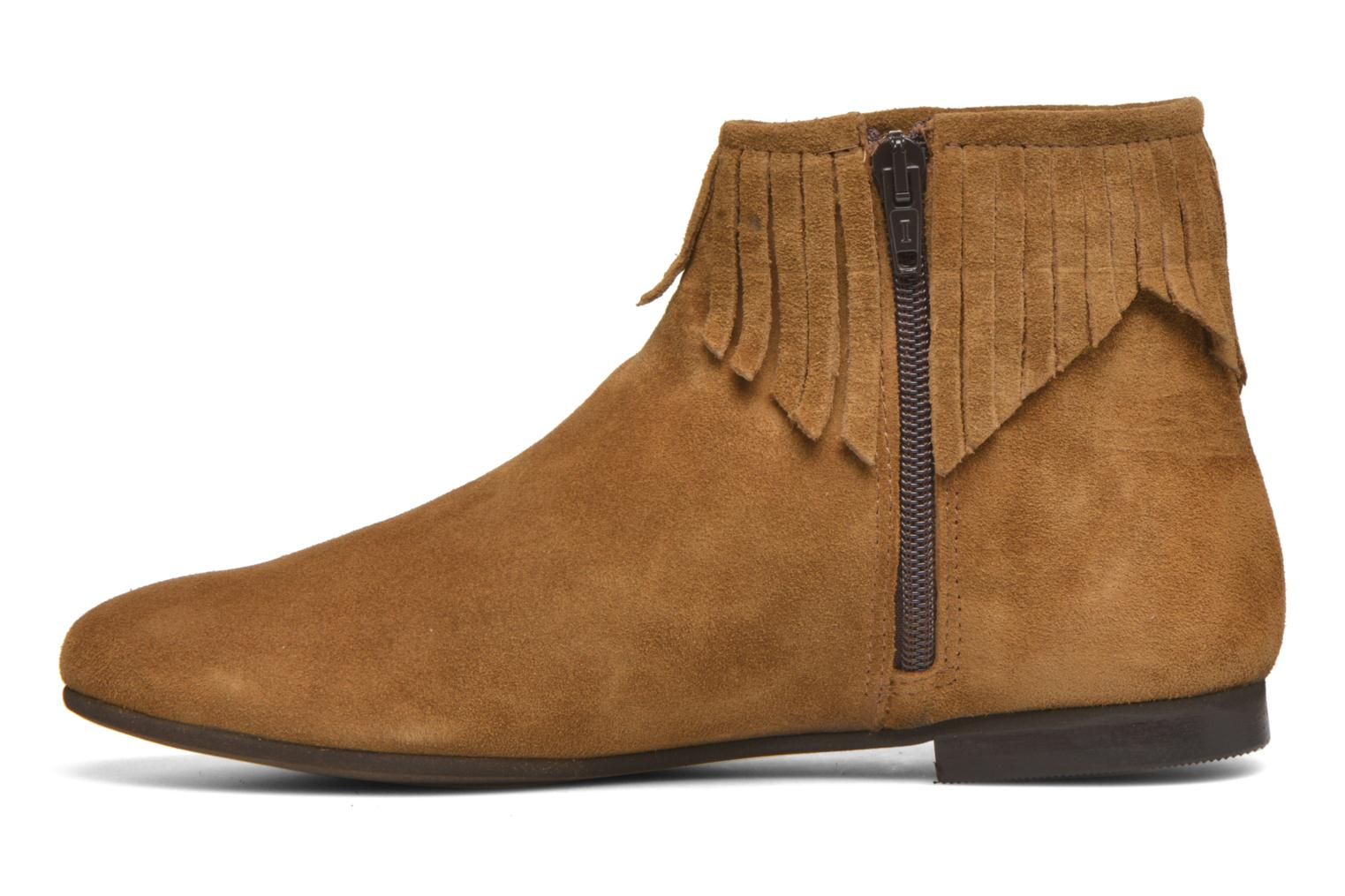 Ankle boots André Coachella Brown front view