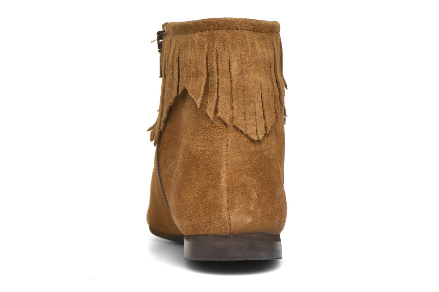 Ankle boots André Coachella Brown view from the right