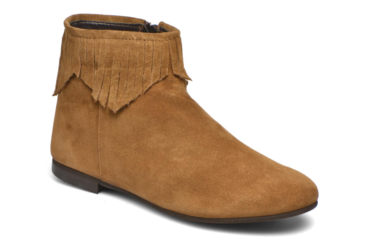 Ankle boots André Coachella Brown detailed view/ Pair view
