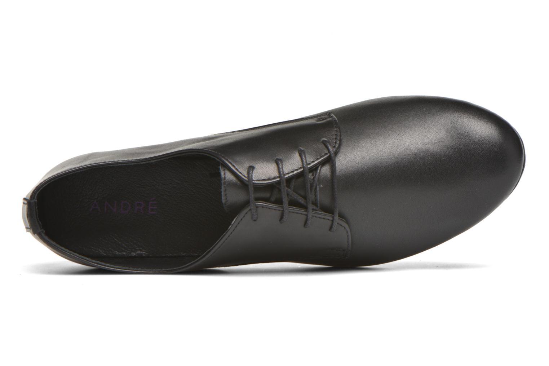 Zapatos con cordones André Complice Negro vista lateral izquierda