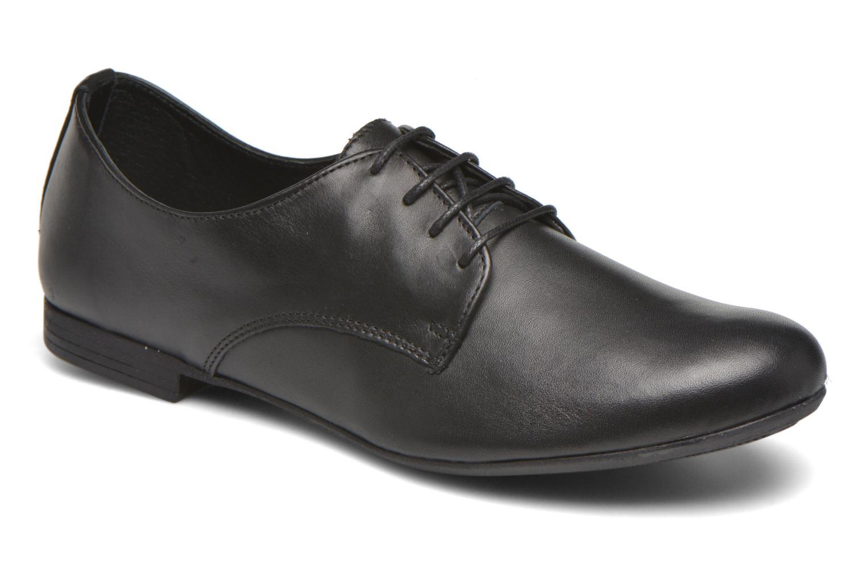 Snøresko André Complice Sort detaljeret billede af skoene