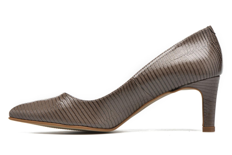 High heels André Parissa Grey front view