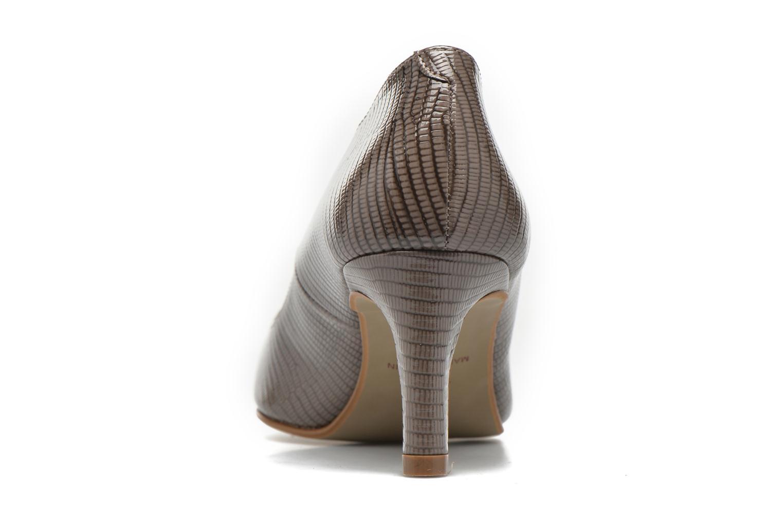 Zapatos de tacón André Parissa Gris vista lateral derecha