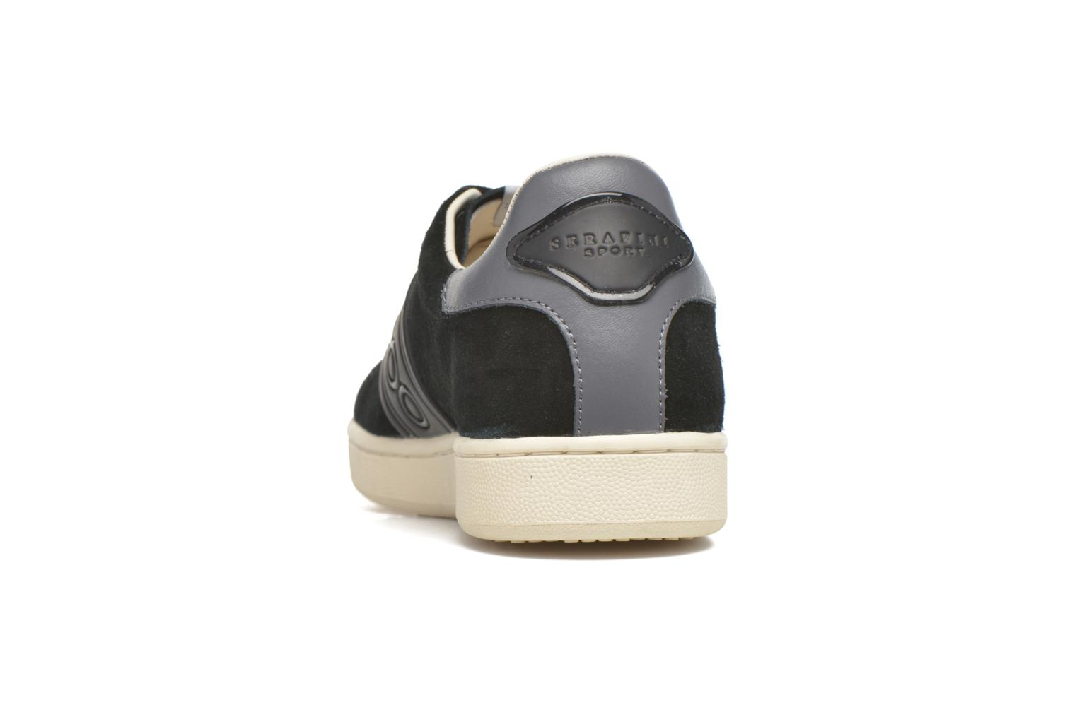 Trainers Serafini Jimmy Connors Black view from the right