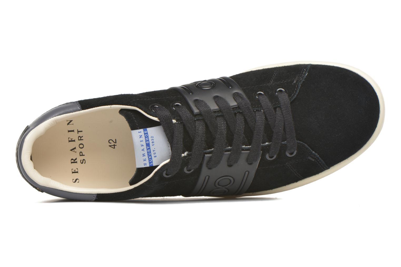 Sneaker Serafini Jimmy Connors schwarz ansicht von links