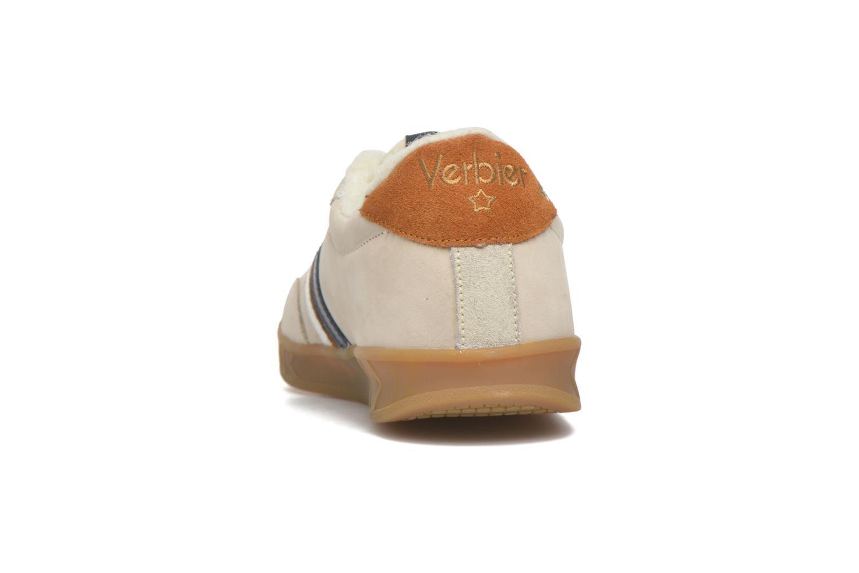 Baskets Serafini Flat Verbier Beige vue droite