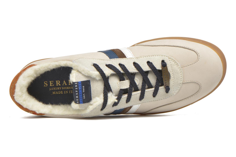 Baskets Serafini Flat Verbier Beige vue gauche
