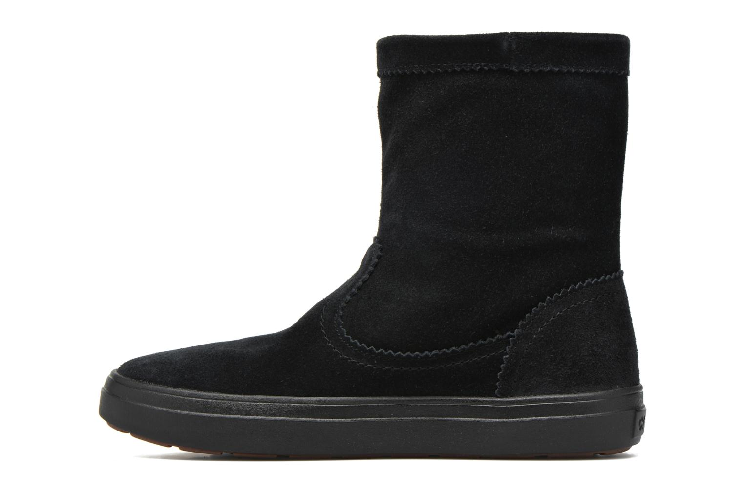 Ankle boots Crocs Lodgepoint Suede Pullon Boot W Black front view
