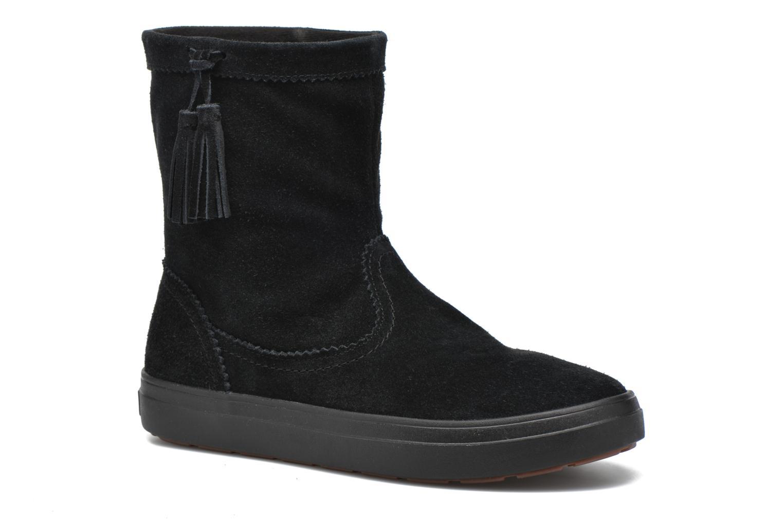 Bottines et boots Crocs Lodgepoint Suede Pullon Boot W Noir vue détail/paire
