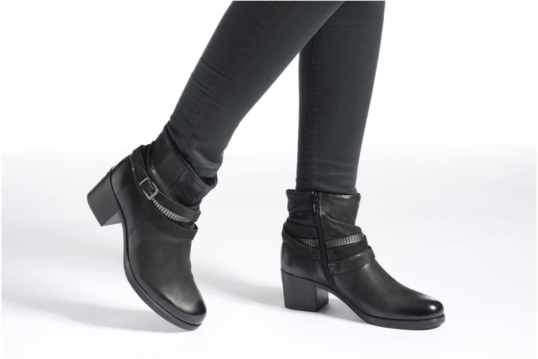 Bottines et boots Coco et abricot Brown Noir vue bas / vue portée sac