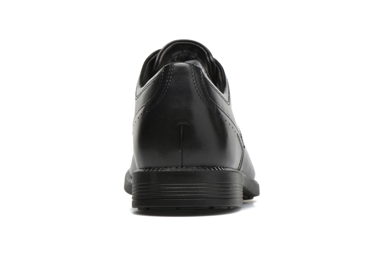 Zapatos con cordones Rockport DP Modern Apron Toe Negro vista lateral derecha