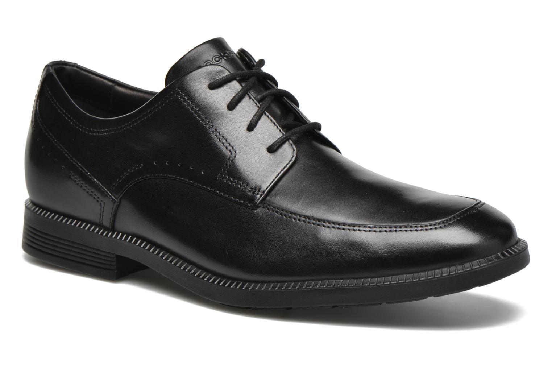 Chaussures à lacets Rockport DP Modern Apron Toe Noir vue détail/paire